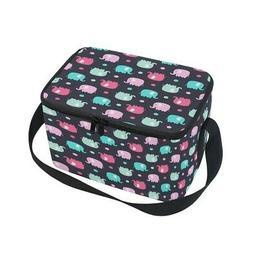 - ALAZA Elephant Polka Dot Insulated Lunch Bag Box