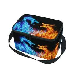 - ALAZA Fire Dragon Insulated Lunch Bag Box Cooler Bag