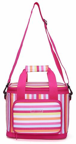 MIER 16 Can Large Insulated Lunch Bag for Women, Pink