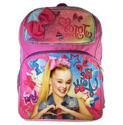"16"" JoJo Siwa Girls Backpack School Bag Bookbag w/ lunch bag"