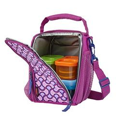 Rubbermaid 1873225 Small Lunchblox Lunch Bag -Purple Circle