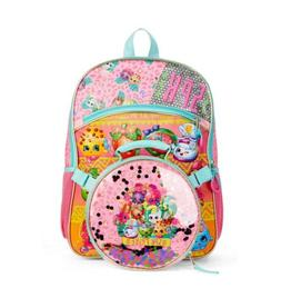 Shopkins 2 Piece Kids Backpack Set With Lunch Bag NEW Pink