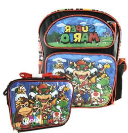 "2017 Super Mario 3D Brother Team 16"" Large Backpack Kid Boys"
