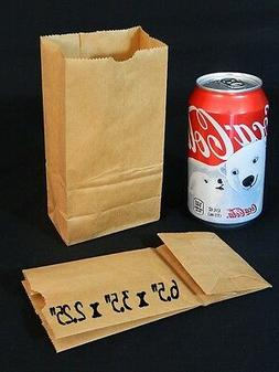 25 Small Mini Brown Paper Bags Kraft Craft Grocery Lunch Wed