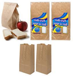 2x  Brown Paper Lunch Sandwich Bags Work School Park Free Sh