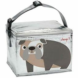 3 Travel & ToGo Food Containers Sprouts Lunch Bag, Bulldog,