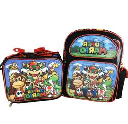 """Super Mario 3D Brother Team 12"""" Small  Backpack Kid Boys Lic"""