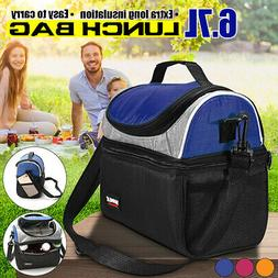 6.7L Large Insulated Lunch Bag for Men & Women School Picnic