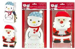 6 Santa+Snowman Paper Bags Christmas Party Treat Candy Sweet