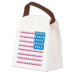 CafePress - EMS flag Canvas Lunch Bag - Canvas Lunch Bag wit