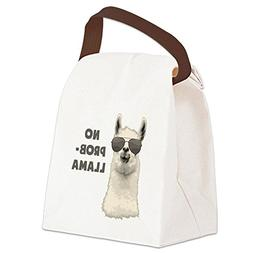 CafePress - No Problem Llama - Canvas Lunch Bag with Strap H