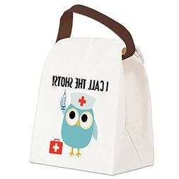 CafePress - Owl Nurse Canvas Lunch Bag - Canvas Lunch Bag wi