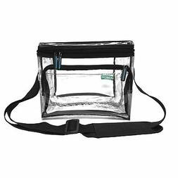 Clear Lunch Bag Medium Black Trim