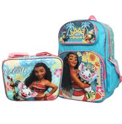 "Disney Moana School Backpack Lunch Bag Set 12"" Grils Book Ba"