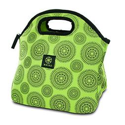 Gaiam 308044 Lunch Sack - Green Marrakesh
