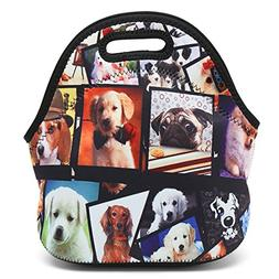 ICOLOR Dogs Design Hot Kids Neoprene Insulated Lunch Food To