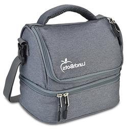 LunchBots Duplex Insulated Lunch Bag - Dual Section Design F