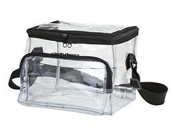 Medium Clear Lunch Bag Lunch Box with Adjustable Strap and F