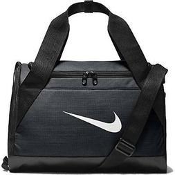 NIKE Brasilia Training Duffel Bag, Black/Black/White, X-Smal