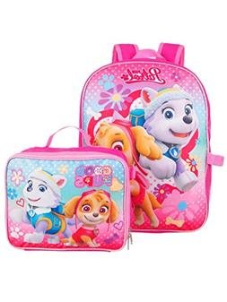 Paw Patrol Girls 15 Inch Backpack with Lunch Kit - Skye and