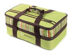 Rachael Ray Expandable Lasagna Lugger, Double Casserole Carr