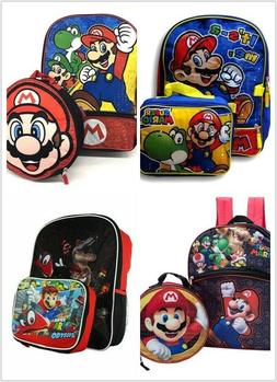 "Super Mario Large 16"" School Backpack Lunch Box Book Bag - 2"