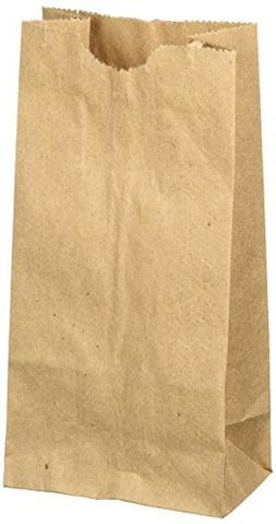 """WM Extra Small Brown Paper Bags 3 x 2 x 6"""" party favors, Pap"""