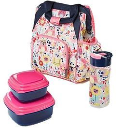 Fit & Fresh Abigail Daypack Kit for Kids with Water Bottle a