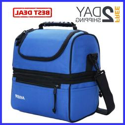 Adult Insulated Lunch Bags Large Kids Cooler Tote Bag Double