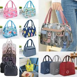 Adults Women Girls Portable Insulated Lunch Bag Box Picnic W