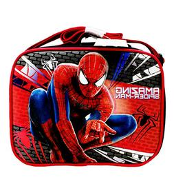 Marvel Amazing Spiderman Black-Red Kids School Lunch Bag/Box