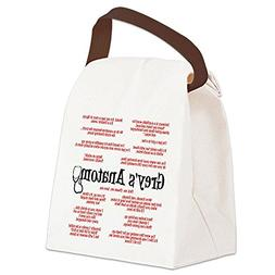 anatomy quotes canvas lunch bag