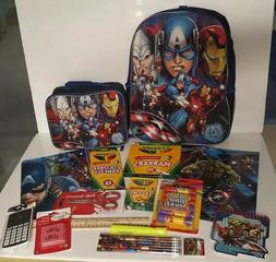 Marvel  Avengers Back to School - Backpack, Lunch Bag, Suppl