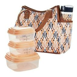Bag and Lunch Bag Set for Girls Women 20 oz Water Bottle Sna