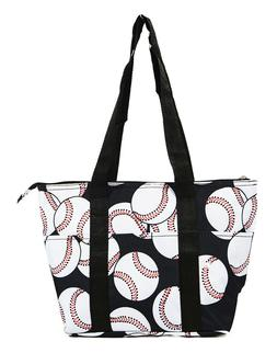 Baseball Reusable Lunch Tote Bag Insulated Thermal for Women