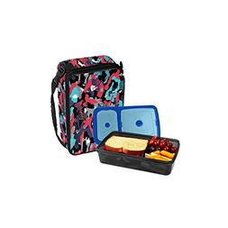 Fit & Fresh Bento Lunch Set, Red Jungle Camo