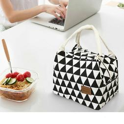 Insulated Food Lunch Bag Tote Thermal Lunch Box Thermos Cool