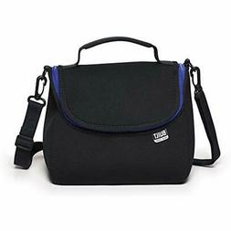 "Bistro Neoprene Crossbody Lunch Bag, Black Kitchen "" Dining"