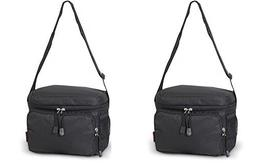 2 Pack Everest Black Travel Cooler Lunch Bag