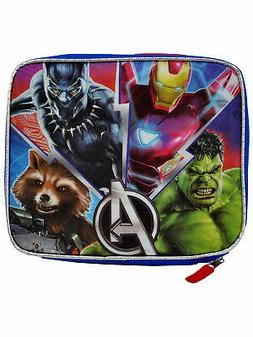 Boys Avengers Insulated Lunch Bag Adjustable Shoulder Strap