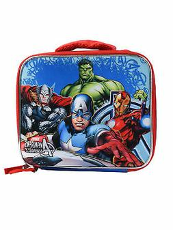 Boys Avengers Lunch Bag 3D Molded Captain America Iron Man T