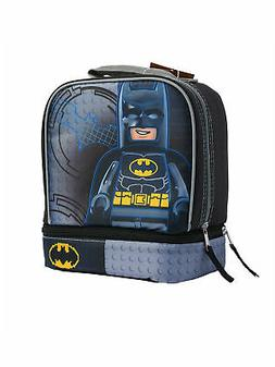 Boys LEGO Batman Dual Compartment Insulated Lunch Bag Grey B