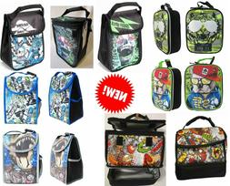 Boys Lunch Bag Lunch Box Carry Tote Picnic Travel Pouch NEW