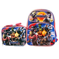 "Boys Marvel Avengers 4 END GAME Backpack 12"" & Lunch bag 2Pc"