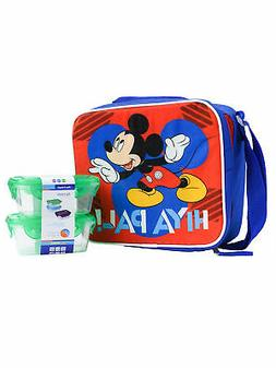 Boys Mickey Mouse Insulated Lunch Bag with Snack Container S