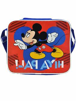 Boys Mickey Mouse Insulated Lunch Bag with Shoulder Strap Hi