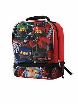 Boys Ninjago Insulated Lunch Bag Dual Compartment Lloyd Kai
