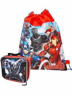 Boys Marvel's Avengers Sling Bag & Black Panther Lunch Bag 2
