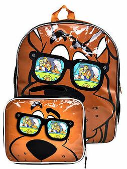 """Boys Scooby Doo 15"""" Backpack Fred Daphne Shaggy w/ Insulated"""