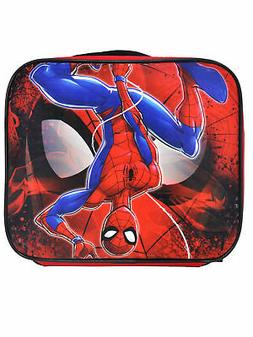 Boys Spider-man Insulated Lunch Bag with Shoulder Strap Blac